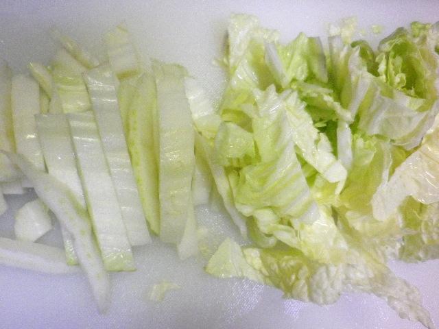 白菜とジャガイモの炒め煮