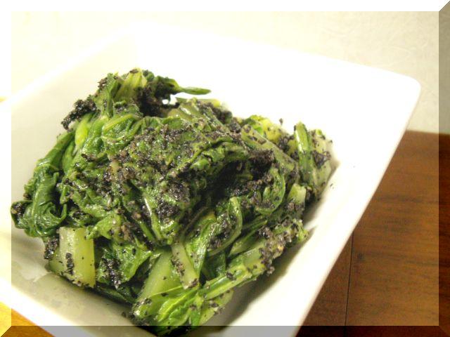 チンゲン菜-ゴマ和え